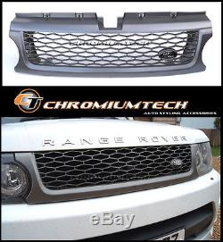 09-12 Range Rover SPORT GRIS Grille Autobiography Style withGratuit Land Badge