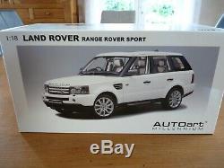118 Autoart 74809 Land Rover Range Rover Sport Rhd Blanc 2006