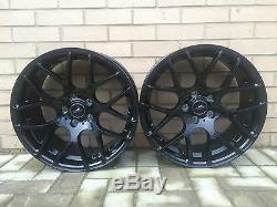 19 alliage JANTES et pneus noir brillant pour BMW X3 X4 X5 VW T5 T6