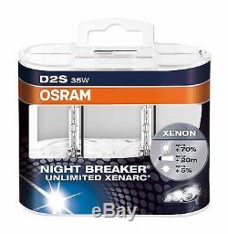 2 Pièces OSRAM D2S 66240 XNB Night Breaker Unlimited Xenarc en Duo Dur Box NEUF