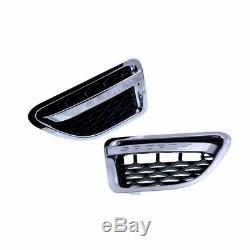 2 Prise D'air D'aile Noir Et Chrome Range Rover Sport L320 De 06/2005 A 08/2009