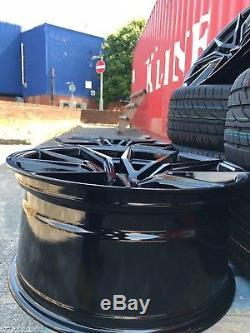 22 Spyder Roues Alliage & 285/35/22 Pneu 5x120 pour pour BMW / Range Rover