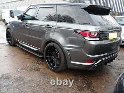 22 X 11J Roues Alliage Ferrada FR2 Noir Mat Brillant Bague Range Rover Sport