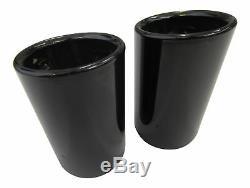 2x Premium Embout D'Échappement Noir Échappement Original Qualité 66-72mm