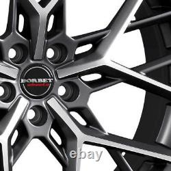 4 Jantes Borbet BY 11.0x23 ET32 5x120 TITAPM pour Land Rover Discovery Sport