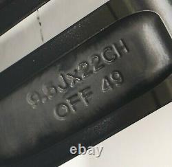 4 Jantes en Alliage RANGE ROVER SPORT 9,5 X 22 Original Noir JK6M-1007-FA Usés