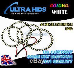4X 5050 120MM SMD ANGEL EYE HALO RINGS LED DRL RANGE ROVER SPORT FACELIFT