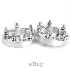 4pcs 25mm 5x120 Elargisseurs de voie M14x1.5 CB72.56mm Pour LAND ROVER /BMW 7 X5