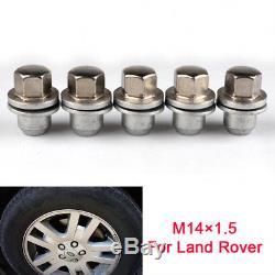 5pcs boulons écrous de roue alliage M14x1.5 pour RANGE ROVER DISCOVERY 3 4