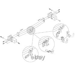 Amovible Attelage pour Land Rover RANGE ROVER SPORT 03032/VM