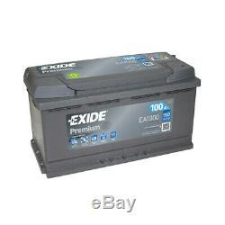 Batterie Exide Premium EA1000 12v 100AH 900A