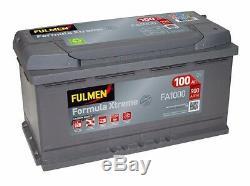 Batterie Fulmen FA1000 12v 100ah 900A 353x175x190mm idem H3