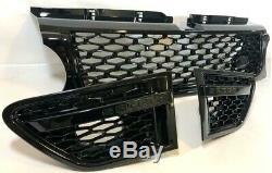 Calandre noir brillante avec grillage 3 pièces noir pour Range Rover Sport L320