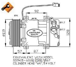 Compatible avec avec VOLVO S40 NRF Compresseur 32120 2L