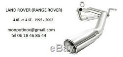 Échappement sportif inox Range Rover Sport V8 4.2L Catback