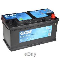 Exide EK950 MARCHE ARRËT AGM VRLA Batterie de Voiture 95Ah