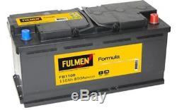 FULMEN Batterie de démarrage 110ah/850A Pour PEUGEOT BOXER CITROEN JUMPER FB1100