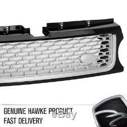 HAWKE AB Look Grille Calandre Avant Range Rover Sport 2010 Noir / Argent BLITZ
