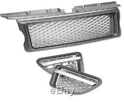 HAWKE Calandre & Ventilation Paquet L320 Range Rover Sport Gris & Argent HST