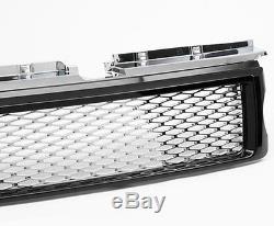 HAWKE HS-T Grille Calandre Avant pour RANGE ROVER SPORT 05-10 Noir / Chrome