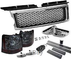 HAWKE Range Rover Sport Chrome & Noir HS-T Paquet Calandre Ventilation HST