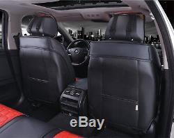 Land Range Rover Discovery Premium Noir Cuir Rouge Set Complet HOUSSES de Siège