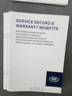 Land Rover Sport Evoque Plan de Service Carnet D'Entretien Garantie Scheckheft