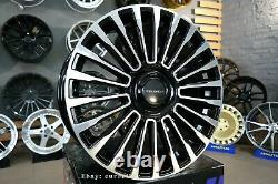 Neuf 22 inch 5x120 mansory style Noir Roues Pour Land Range Rover Sport Defender