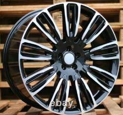 Neuf 4x 22 inch 5x120 Noir Roues Pour Land Rover Discovery Defender Range Sport