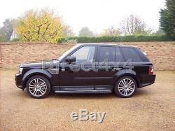 Noir Bar Chequer Range Rover Sport 2005-2012 Marchepieds Latéraux Jupes