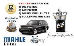Pour Range Rover Sport 3.0td V6 2009-8/2013 Huile Kit Entretien Filtre Pollen