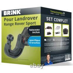 Pack Attelage Brink pour Landrover Range Rov. 05- Amovible et Faisceau s. 13 br