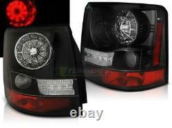 Paire de feux arriere Range Rover Sport 05-09 LED noir