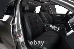 Pour Land Rover Noir Simili Cuir & Respirant Tissu Luxe Set Complet Siège