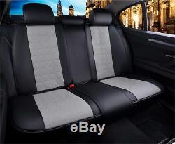 Premium Gris & Noir Cuir Set complet Couvertures de siège pour LAND RANGE ROVER