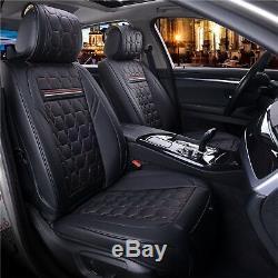 Premium Noir Cuir Rouge Set Complet Couvertures de Siège pour Land Range Rover