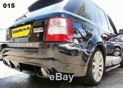 RANGE ROVER (06-09) sport rear bumper spoiler add-on. Primed