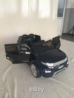 Range Rover HSE Sport Noire, voiture électrique enfant 12V-2 moteurs