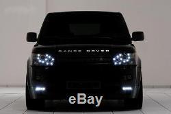 Range Rover Sport 2005-2010 Custom Headlight Upgrade DRL's Halo Angel Eye's