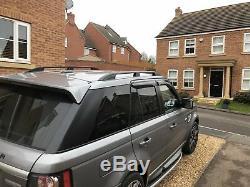 Range Rover Sport 2005-2013 Alu Barres de Toit Rail Supports Couleur Noire Neuf