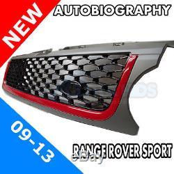 Range Rover Sport Autobiography Style Latéral Calandre Gris, Rouge Barre & Noir