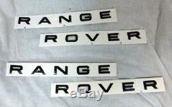 Range Rover Sport L494 2014+ OEM Brillant Noir Ébène Lettres avant & Arrière