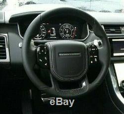 Range Rover Sport L494 Svr 18 + Noir Chauffé Direction Roue Carbone Fibre Bord