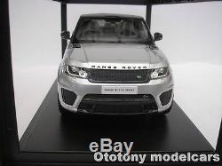 Range Rover Sport Svr 2015 Indus Argent, Échelle 1/18 Kyosho C09542s Neuf