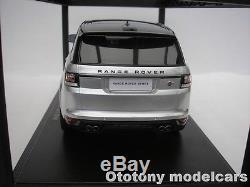 Range Rover Sport Svr 2015 Indus Silber 1/18 Kyosho C09542s Neuf