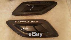 Range Rover Sport l494 fibre de carbone SVR Aile + conduits capot 100% genuine