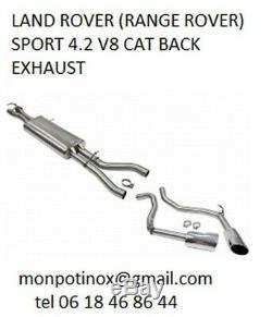 Silencieux échappement sportif inox pour Range Rover Sport 5.0L