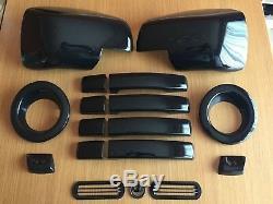 Ultimate Noir Brillant Housses Set pour Range Rover Sport 2005-09 Anses Aile Fog