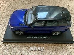 Véritable RANGE ROVER Sport Svr Modèle 118 Echelle Ex Display Avec Support