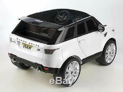 Voiture électrique pour enfant filles garçons 12 V Feber Range Rover Sport blanc